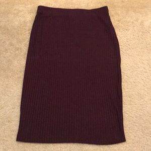 Forever 21 Size S Maroon Pencil Skirt